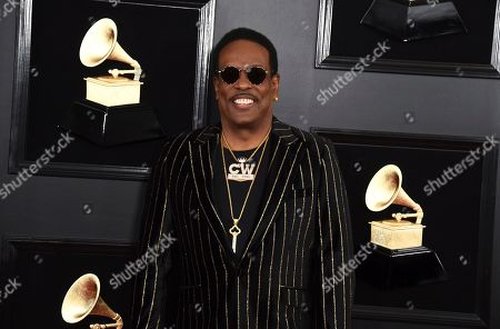 Charlie Wilson arrives at the 61st annual Grammy Awards at the Staples Center, in Los Angeles