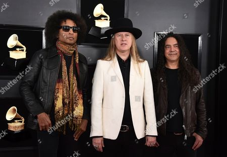 William DuVall, Jerry Cantrell, Mike Inez. William DuVall, from left, Jerry Cantrell and Mike Inez of Alice in Chains arrive at the 61st annual Grammy Awards at the Staples Center, in Los Angeles
