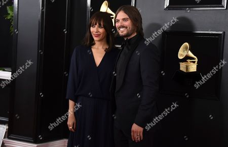 Rashida Jones, Alan Hicks. Rashida Jones, left, and Alan Hicks arrive at the 61st annual Grammy Awards at the Staples Center, in Los Angeles