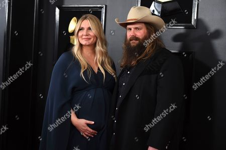 Morgane Stapleton, Chris Stapleton. Morgane Stapleton, left, and Chris Stapleton arrive at the 61st annual Grammy Awards at the Staples Center, in Los Angeles