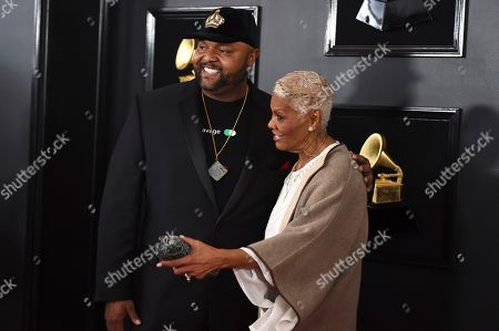 Stock Photo of Damon Elliott, Dionne Warwick. Damon Elliott, left, and Dionne Warwick arrive at the 61st annual Grammy Awards at the Staples Center, in Los Angeles