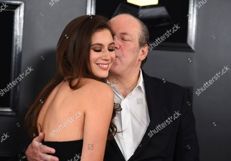 Hans Zimmer, Zoe Zimmer. Hans Zimmer, right, and Zoe Zimmer arrive at the 61st annual Grammy Awards at the Staples Center, in Los Angeles