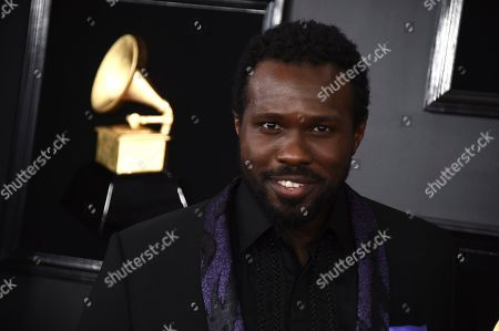 Joshua Henry arrives at the 61st annual Grammy Awards at the Staples Center, in Los Angeles