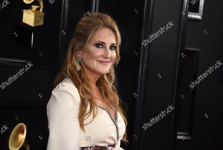 Lee Ann Womack arrives at the 61st annual Grammy Awards at the Staples Center, in Los Angeles