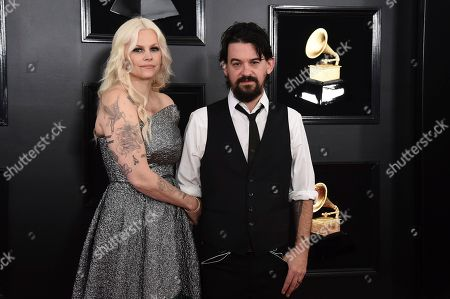 Misty Swain, Shooter Jennings. Misty Swain, left, and Shooter Jennings arrive at the 61st annual Grammy Awards at the Staples Center, in Los Angeles