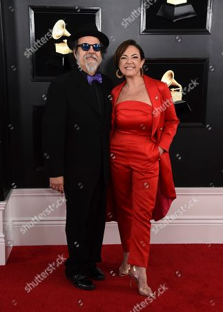 Moogie Canazio, Claudia Brant. Moogie Canazio, left, and Claudia Brant arrive at the 61st annual Grammy Awards at the Staples Center, in Los Angeles