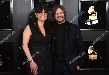 Paula DuPre Pesmen, Alan Hicks. Paula DuPre Pesmen, left, and Alan Hicks arrive at the 61st annual Grammy Awards at the Staples Center, in Los Angeles