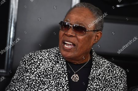 Stock Image of Sam Moore arrives at the 61st annual Grammy Awards at the Staples Center, in Los Angeles