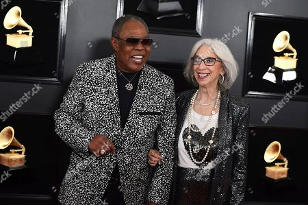 Sam Moore, Joyce McRae. Sam Moore, left, and Joyce McRae arrive at the 61st annual Grammy Awards at the Staples Center, in Los Angeles