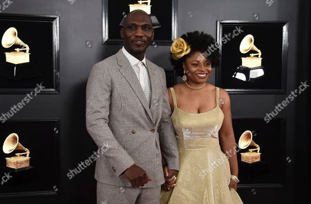 Cedric Burnside, LaShawn Lawson. Cedric Burnside, left, and LaShawn Lawson arrive at the 61st annual Grammy Awards at the Staples Center, in Los Angeles