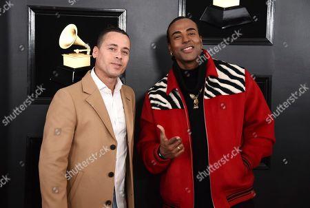 Ruzzo Medina, Yotuel Romero. Ruzzo Medina, left, and Yotuel Romero, of Orishas, arrive at the 61st annual Grammy Awards at the Staples Center, in Los Angeles