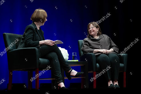 Stock Image of Author Deborah Davis and Ina Garten, The Barefoot Contessa, share her natural approach to food; entertaining tips, and stories at the Long Center for the Performing Arts