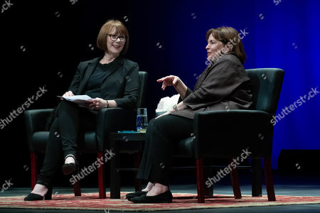 Stock Photo of Author Deborah Davis and Ina Garten, The Barefoot Contessa, share her natural approach to food; entertaining tips, and stories at the Long Center for the Performing Arts