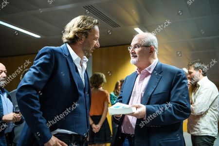 Stock Photo of Francois Busnel and Salman Rushdie