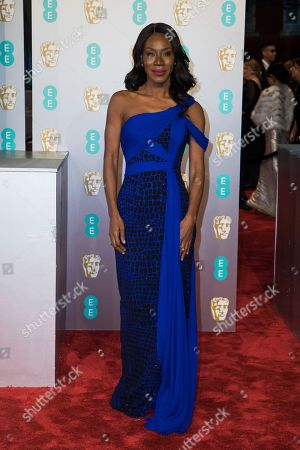 Stock Photo of Amma Asante poses for photographers upon arrival at the BAFTA Film Awards in London