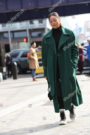 Editorial picture of Street Style, Fall Winter 2019, New York Fashion Week, USA - 10 Feb 2019