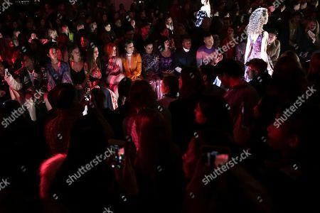 Tao Okamoto, Nina Agdal, Bella Thorne, Dani Thorne, Lana Condor. Tao Okamoto, Nina Agdal, Bella Thorne, Dani Thorne and Lana Condor attend the Prabal Gurung Runway Show held at Spring Studios during New York Fashion Week on in New York