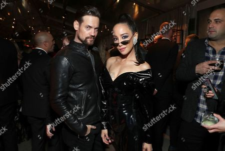 Shane West, Fiona Xie. Shane West, left, and Fiona Xie attend Universal Music Group's 2019 After Party celebrating music's biggest night presented by Citi, on in Los Angeles
