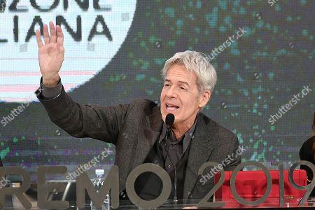Claudio Baglioni during the final press conference