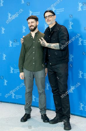 Denis Cote (R) and cinematographer Francois Messier-Rheault pose during the photocall of 'Ghost Town Anthology ' (Repertoire des villes disparues) during the 69th annual Berlin Film Festival, in Berlin, Germany, 11 February 2019. The movie is presented in the Official Competition at the Berlinale that runs from 07 to 17 February.