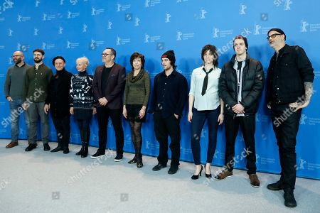 Cast and crew members: Ziad Touma, Francois Messier-Rheault, Normand Carriere, Diane Lavallee, Jean-Michel Anctil, Jocelyne Zucco, Remi Goulet, Larissa Corriveau, Robert Naylor and director Denis Cote pose during the photocall of 'Ghost Town Anthology ' (Repertoire des villes disparues) during the 69th annual Berlin Film Festival, in Berlin, Germany, 11 February 2019. The movie is presented in the Official Competition at the Berlinale that runs from 07 to 17 February.