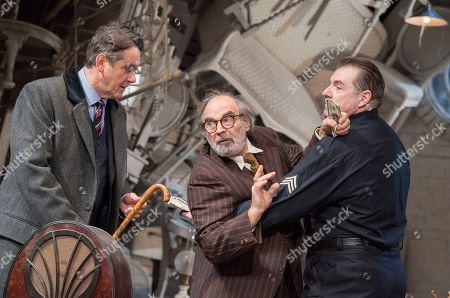 Stock Image of Adrian Lukis as Walter, David Suchet as Gregory, Brendan Coyle as Victor