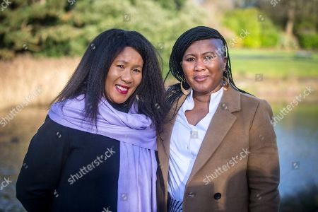 Nelson Mandela's eldest daughter Dr Makaziwe Mandela (left) & his granddaughter Tukwini Mandela (right) are visiting Princes Park in Liverpool this morning to see the location where a memorial to the former president will be built.