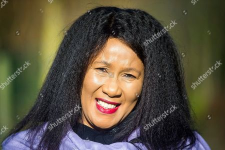 Stock Image of Dr Makaziwe Mandela in Liverpool today. Nelson Mandela's eldest daughter Dr Makaziwe Mandela & his granddaughter Tukwini Mandela are visiting Princes Park in Liverpool this morning to see the location where a memorial to the former president will be built.