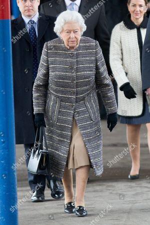 Queen Elizabeth II at King's Lynn train station, Norfolk