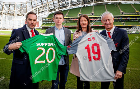 Pictured today is Jack and Martina Cox with former Republic of Ireland international Jason McAteer and former Liverpool player Ian Rush