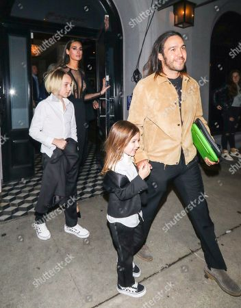 Pete Wentz, Meagan Camper with sons Saint Wentz and Bronx Wentz