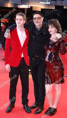 Stock Picture of Robert Naylor, director Denis Cote and actress Larissa Corriveau arrive for the premiere of 'Ghost Town Anthology' during the 69th annual Berlin Film Festival, in Berlin, Germany, 11 February 2019. The movie is presented in the Official Competition at the Berlinale that runs from 07 to 17 February.