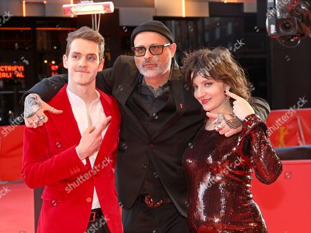 Robert Naylor, director Denis Cote and actress Larissa Corriveau arrive for the premiere of 'Ghost Town Anthology' during the 69th annual Berlin Film Festival, in Berlin, Germany, 11 February 2019. The movie is presented in the Official Competition at the Berlinale that runs from 07 to 17 February.
