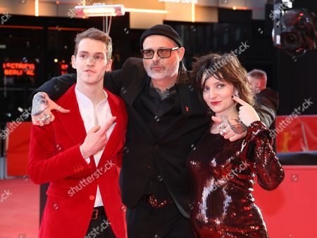 Stock Image of Robert Naylor, director Denis Cote and actress Larissa Corriveau arrive for the premiere of 'Ghost Town Anthology' during the 69th annual Berlin Film Festival, in Berlin, Germany, 11 February 2019. The movie is presented in the Official Competition at the Berlinale that runs from 07 to 17 February.
