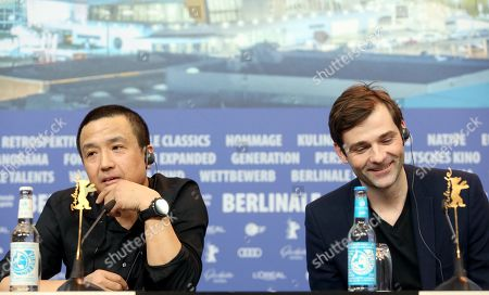 Lou Ye (L) and co-composer Jonas Colstrup attend the press conference of 'The Shadow Play' during the 69th annual Berlin Film Festival, in Berlin, Germany, 11 February 2019. The movie is presented in the Panorama section at the Berlinale that runs from 07 to 17 February.