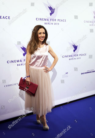 Stock Photo of Anastasia Zampounidis attends the Cinema For Peace Gala during the 69th annual Berlin Film Festival, in Berlin, Germany, 11 February 2019. Berlinale runs from 07 to 17 February.