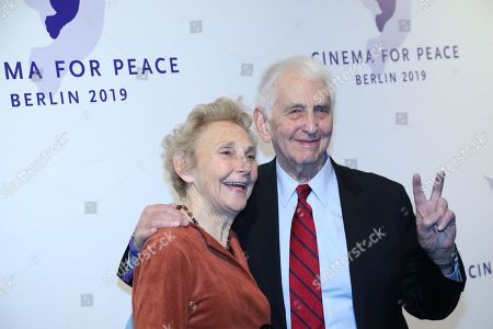 Stock Picture of Daniel Ellsberg (R) and wife Patricia Marx Ellsberg attend the Cinema For Peace Gala during the 69th annual Berlin Film Festival, in Berlin, Germany, 11 February 2019. Berlinale runs from 07 to 17 February.
