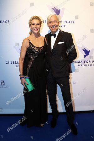Grit Weiss (L) and Jo Groebel attend the Cinema For Peace Gala during the 69th annual Berlin Film Festival, in Berlin, Germany, 11 February 2019. Berlinale runs from 07 to 17 February.