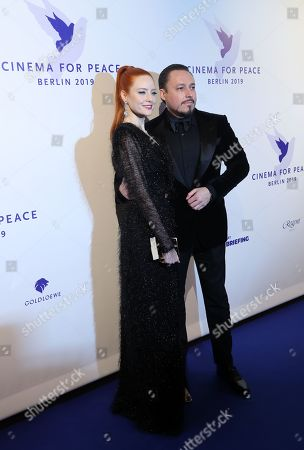 Barbara Meier (L) and her partner Klemens Hallmann attend the Cinema For Peace Gala during the 69th annual Berlin Film Festival, in Berlin, Germany, 11 February 2019. Berlinale runs from 07 to 17 February.