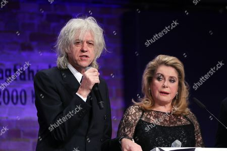 Bob Geldof (L) and French actress Catherine Deneuve (R) address the Cinema For Peace Gala during the 69th annual Berlin Film Festival, in Berlin, Germany, 11 February 2019. Berlinale runs from 07 to 17 February.