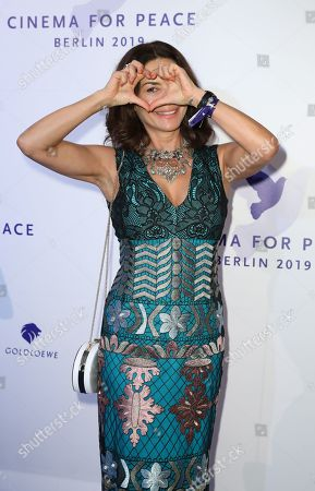 Gitta Saxx attends the Cinema For Peace Gala during the 69th annual Berlin Film Festival, in Berlin, Germany, 11 February 2019. Berlinale runs from 07 to 17 February.