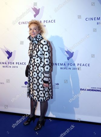Katja Riemann attends the Cinema For Peace Gala during the 69th annual Berlin Film Festival, in Berlin, Germany, 11 February 2019. Berlinale runs from 07 to 17 February.