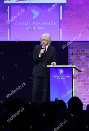 Bob Geldof addresses the Cinema For Peace Gala during the 69th annual Berlin Film Festival, in Berlin, Germany, 11 February 2019. Berlinale runs from 07 to 17 February.