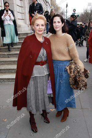 Editorial photo of Carolina Herrera show, Arrivals, Fall Winter 2019, New York Fashion Week, USA - 11 Feb 2019