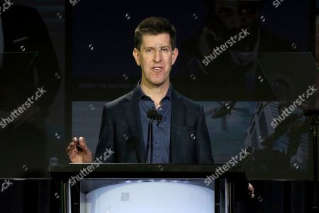 Senior Vice President of Content of Hulu Craig Erwich speaks at the executive session during the Hulu presentation at the Television Critics Association Winter Press Tour at The Langham Huntington, in Pasadena, Calif