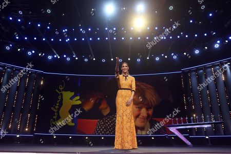 Annabelle Mandeng on stage ahead of the of 'Vice' during the 69th annual Berlin Film Festival, in Berlin, Germany, 11 February 2019. The movie is presented in the Official Competition at the Berlinale that runs from 07 to 17 February.