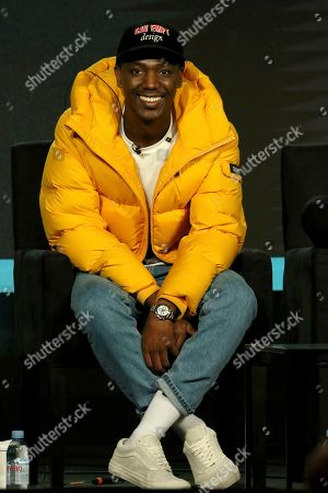 """Jerrod Carmichael participates in the """"Ramy"""" panel during the Hulu presentation at the Television Critics Association Winter Press Tour at The Langham Huntington, in Pasadena, Calif"""