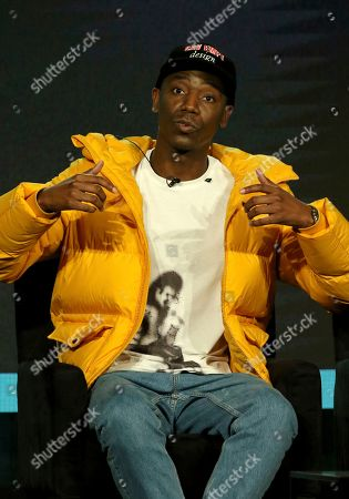 """Stock Picture of Jerrod Carmichael participates in the """"Ramy"""" panel during the Hulu presentation at the Television Critics Association Winter Press Tour at The Langham Huntington, in Pasadena, Calif"""