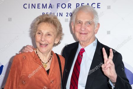 Stock Photo of Daniel Ellsberg (R) and wife Patricia Marx Ellsberg attend the Cinema For Peace Gala during the 69th annual Berlin Film Festival, in Berlin, Germany, 11 February 2019. Berlinale runs from 07 to 17 February.