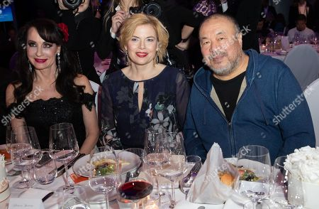 Stock Picture of Anna Maria Kaufmann, Minister of Food and Agriculture Julia Kloeckner and Chinese artist Ai Weiwei attend the Cinema For Peace Gala during the 69th annual Berlin Film Festival, in Berlin, Germany, 11 February 2019. Berlinale runs from 07 to 17 February.